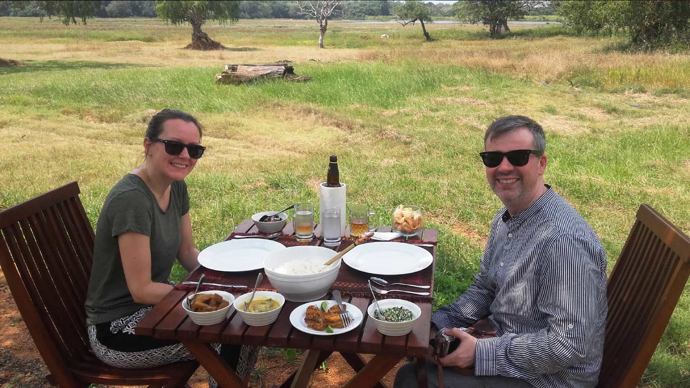 Lunch at the lake side - The Ibis Wilpattu