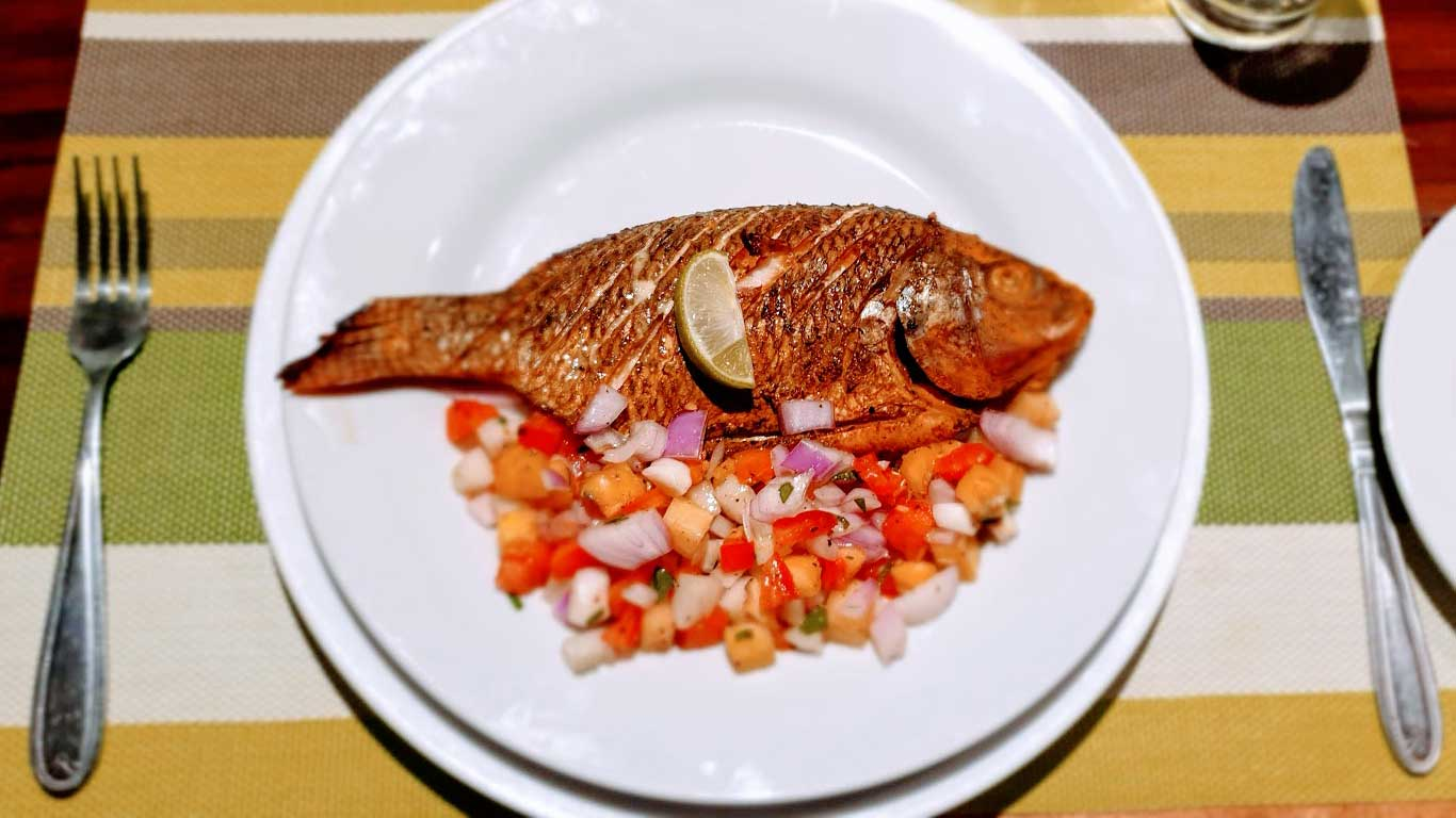 Grilled fresh water fish - The Ibis Wilpattu