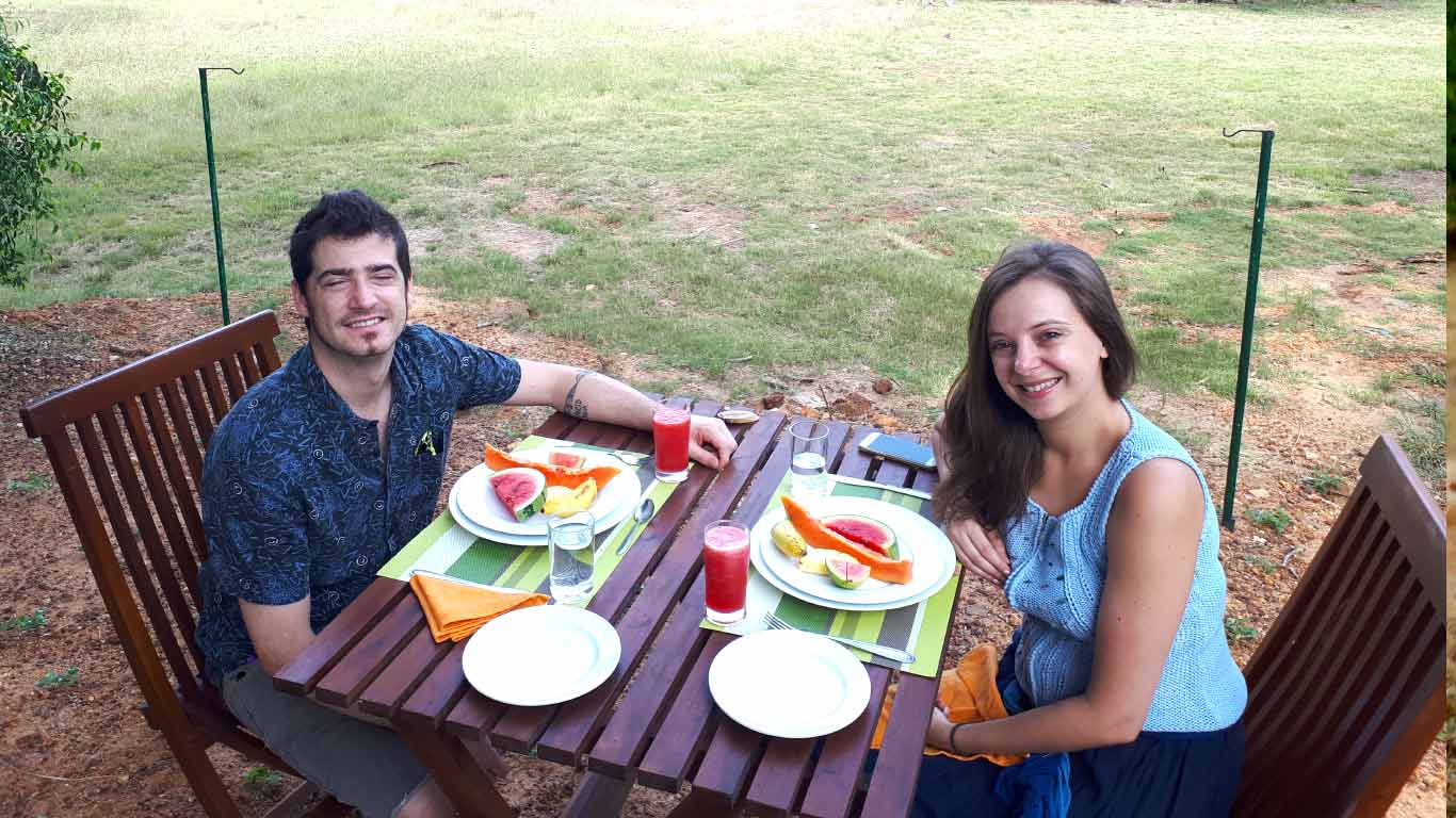 love and breakfast at the lake side - The Ibis Wilpattu