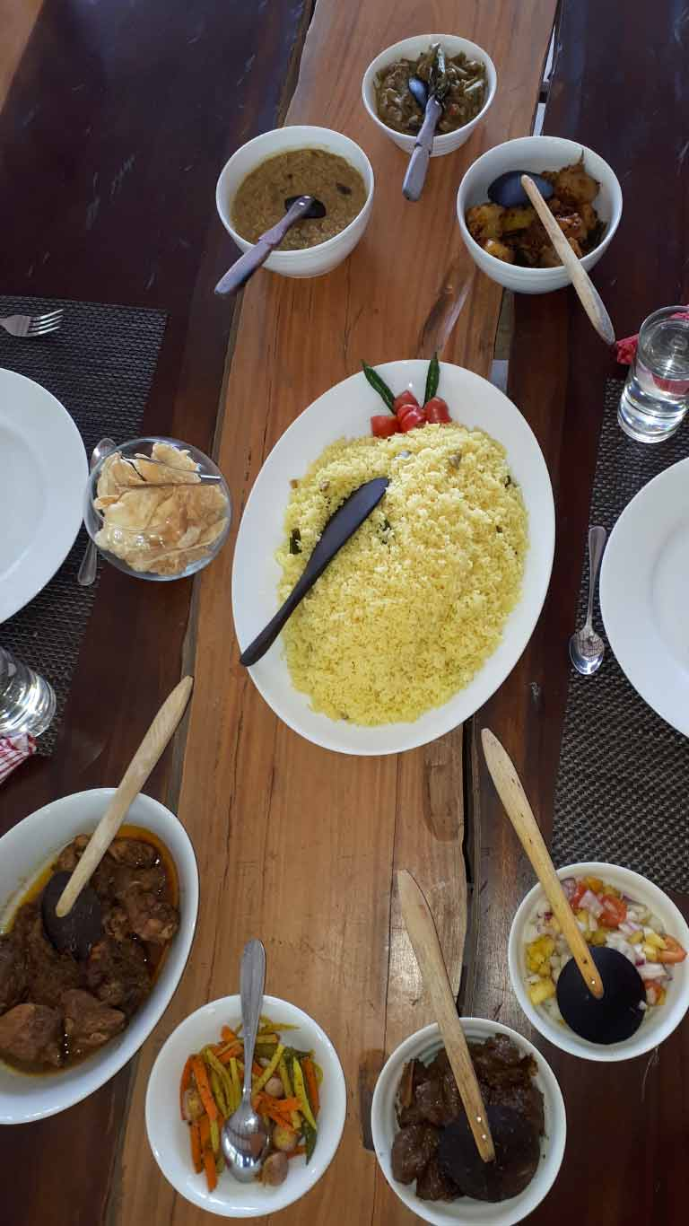 Lunch with yellow rice - The Ibis Wilpattu